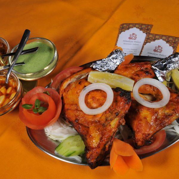 Chicken Tandoori (Pollo marinato con spezie e yoghurt cotto in Tandoor)