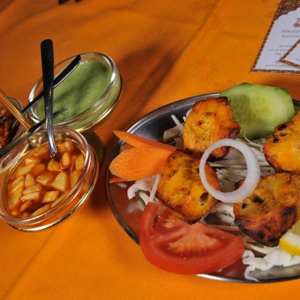 Chicken Tikka (Spiedino di pollo cotto in Tandoor)