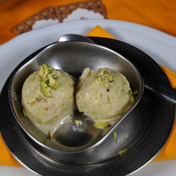 Gelato indiano con pistacchio