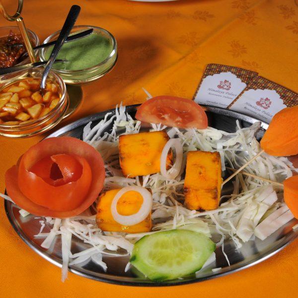 Paneer Tikka (Formaggio indiano cotti in Tandoor)